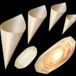 houten tipzakken en bakjes